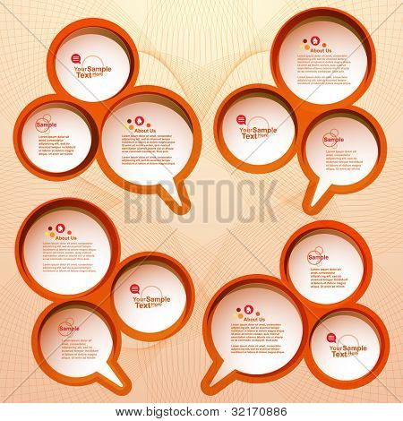 Design speech bubble set, vector