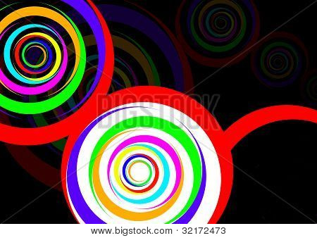 colour circle background