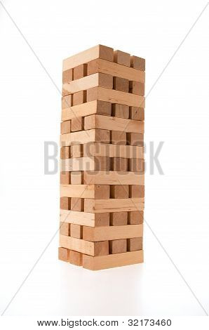 Complete wood brick tower
