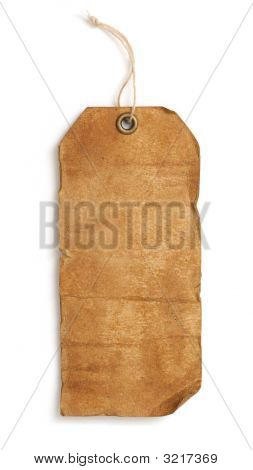 Vintage Tag On White Background