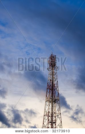 Communications Tower And Sky
