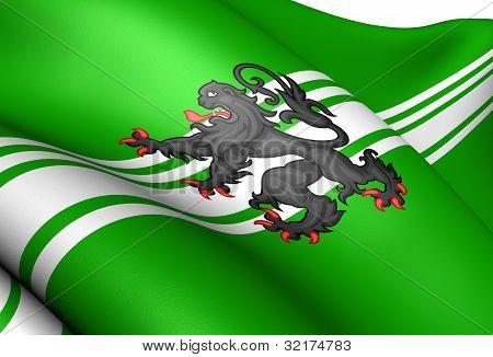 Flag Of East Flanders, Belgium.
