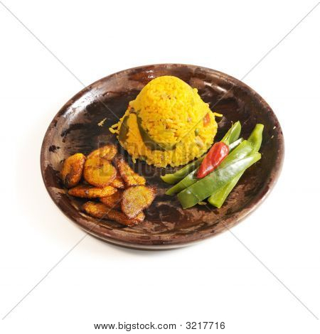 Cuban Dish Isolated