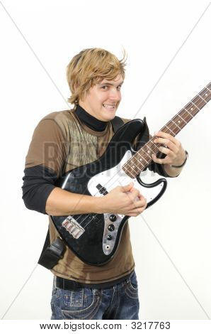 Bass Player Isolated