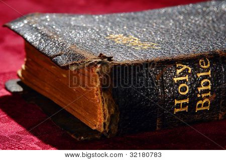 Antique Holy Bible Old Testament Sacred Book Title