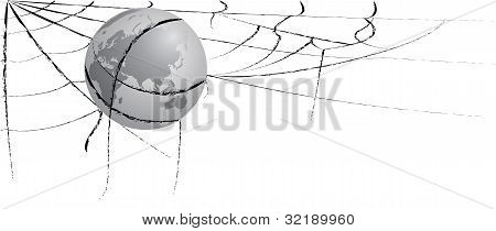 Earth Entangled In Spiderweb