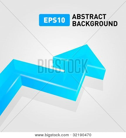 Glass arrow abstract background