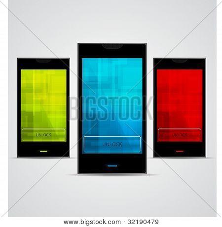 Vector Cellphones set