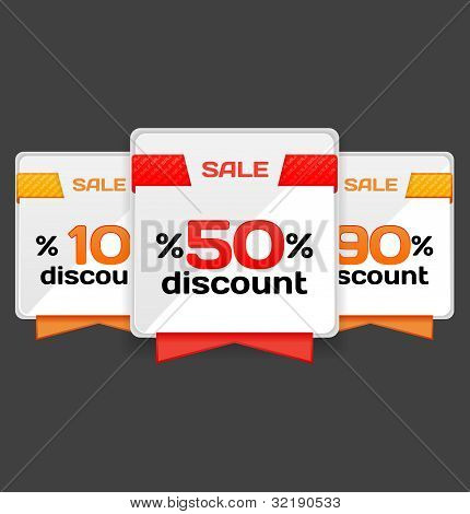 Sale or discount tag