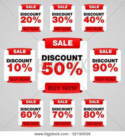 Discount or sale tag