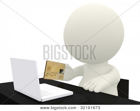 3D online shopping - isolated over a white background