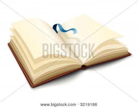 Vector abrió el libro con páginas en blanco