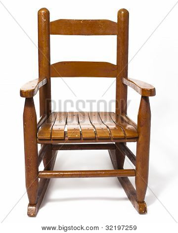 Childs Rocking Chair Isolated White