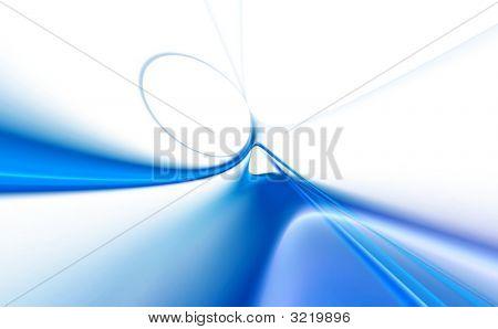Moderno azul 3D prestados Resumen Antecedentes