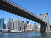image of brooklyn bridge  - a river trip on the hudson river - JPG