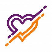 Heart Icon Vector Logo. Heart Logo, Heart Shape. Love Logo Concept. Heart Logo. Heart Icon. Love, He poster