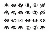 Eyes Symbols. Closed Opening Eye Human Parts Optical Medical Healthcare Insomnia Cataract Good Looki poster