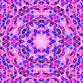 Geometrical Dynamic Abstract Tile Triangle Mosaic Pattern Background Design - Psychedelic Circular C poster