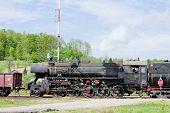 foto of former yugoslavia  - steam locomotive in Tuzla region - JPG