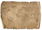Old world map illustration isolated on white. Based on image furnished from NASA. poster