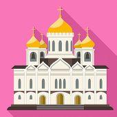 Christian Orthodox Church Icon. Flat Illustration Of Christian Orthodox Church Vector Icon For Web D poster