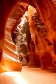 foto of antelope  - Amazing shot at the Grand Canyon inside cave Antelope - JPG