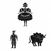 Isolated Object Of Heritage And Landmarks Icon. Set Of Heritage And Travel Vector Icon For Stock. poster