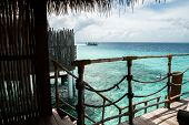 View Of The Ocean From A Water Villa On Maldives poster