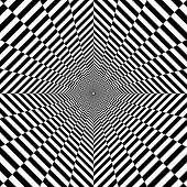 Psychedelic Tunnel, Pattern In Black And White, Rhombus, Optical Illusion poster