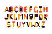 Modern Fancy Geometry Font Alphabet. Handwritten Font Letters. Hand Lettering Font For Your Design:  poster