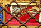 pic of sanctification  - Detail of papal grave inside San Pietro  - JPG