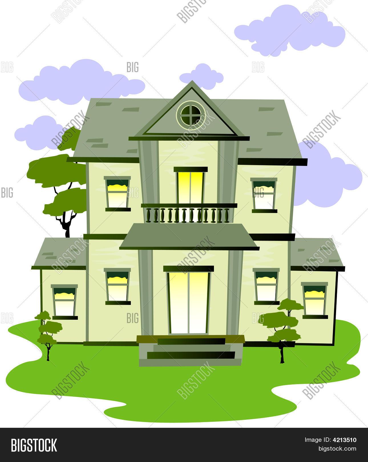 Cartoon House Image Photo Bigstock - Big cartoon house