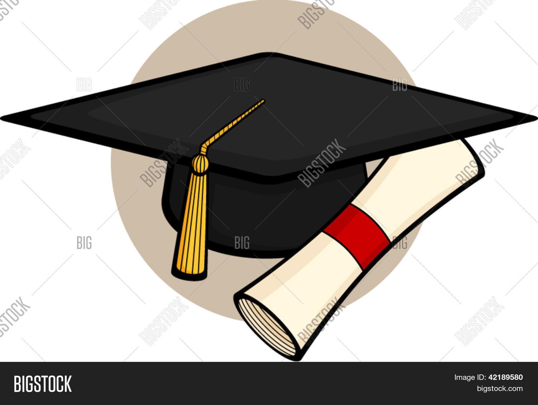 ... fotos en stock de sombrero de graduación con diploma | Bigstock