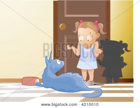The Cat And The Little Girl
