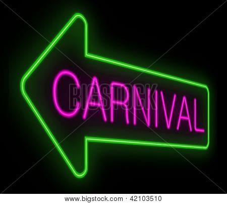Concepto de carnaval.