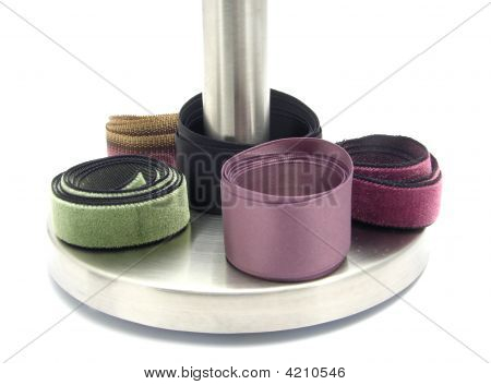 Several Rolled Up Bands Of Rayon