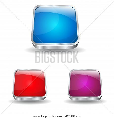 3d Glossy Rounded Rectangle Icon