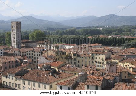 Aerial View Of Lucca, Italy