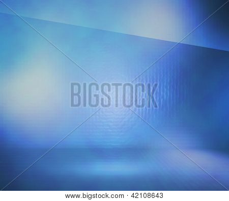 Blue Glass Stage Background