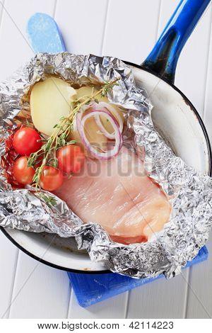 Healthy dinner dietetic chicken steak
