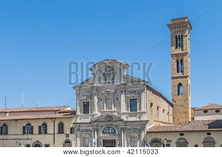 The Chiesa Di Ognissanti, A Franciscan Church In Florence, Italy