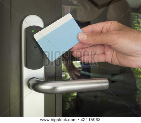 Key card used in hotels