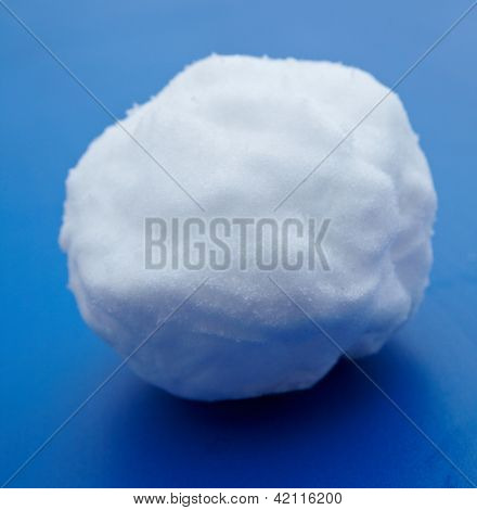 Snowball  on a blue background