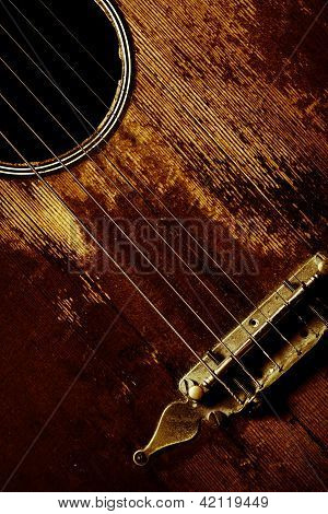 Old Guitar Detail