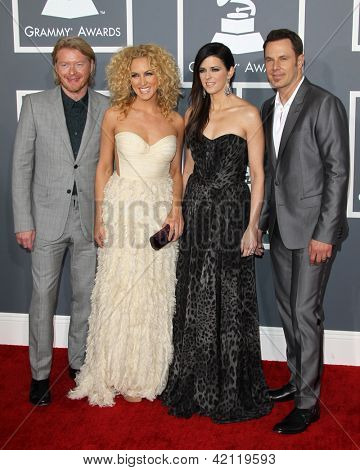LOS ANGELES - FEB 10:  Little BIg Town arrives at the 55th Annual Grammy Awards at the Staples Center on February 10, 2013 in Los Angeles, CA