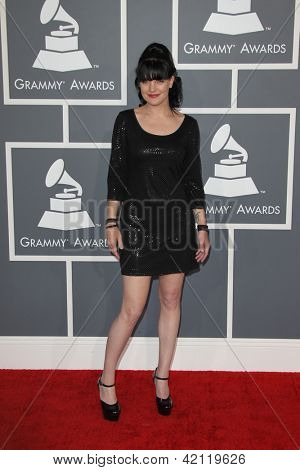 LOS ANGELES - FEB 10:  Pauley Perrette arrives at the 55th Annual Grammy Awards at the Staples Center on February 10, 2013 in Los Angeles, CA