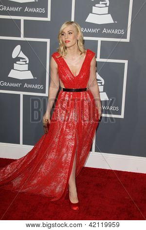LOS ANGELES - FEB 10:  Natasha Bedingfield arrives at the 55th Annual Grammy Awards at the Staples Center on February 10, 2013 in Los Angeles, CA