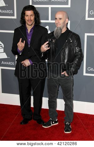 LOS ANGELES - FEB 10:  Anthrax arrives at the 55th Annual Grammy Awards at the Staples Center on February 10, 2013 in Los Angeles, CA