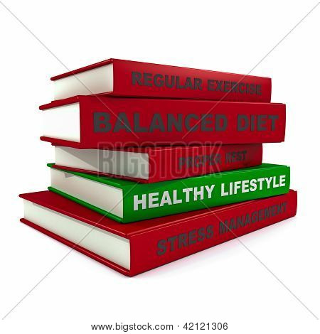 Pile Of Books - Healthy Lifestyle