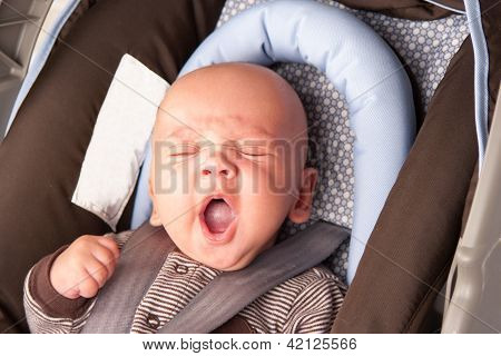 Adorable Baby Yawning